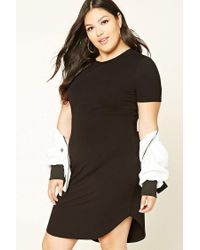 Forever 21 Plus Size Bodycon Dress in Black - Lyst