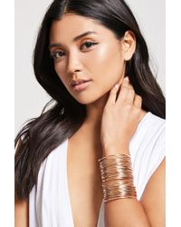 Forever 21 | Metallic Wire Cuff Bracelet | Lyst