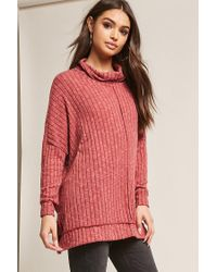Forever 21 Red Oversized Reverse-seam Top