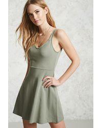 Forever 21 Green A-line Mini Dress