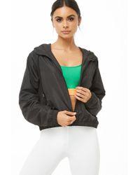 Forever 21 - Black Women's Active Zip-up Windbreaker Jacket - Lyst