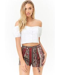 Forever 21 - Multicolor Floral Ornate Shorts - Lyst