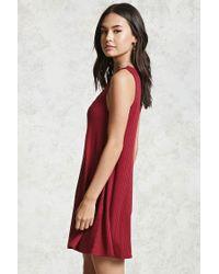 Forever 21 Red Ribbed Crisscross Dress