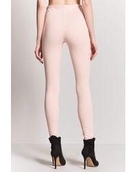 Forever 21 Pink Women's Textured Knit Leggings