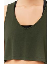 Forever 21 - Green Active Raw-cut Tank Top - Lyst