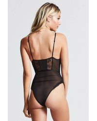 Forever 21 - Black Eyelash Lace Teddy - Lyst
