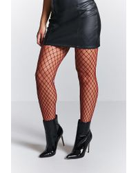 Forever 21 | Red Fishnet Tights | Lyst
