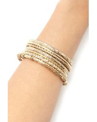 Forever 21 | Metallic Etched Bangle Set | Lyst