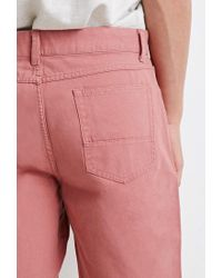 Forever 21 White 's Cotton Canvas Shorts for men