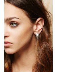 Forever 21 Metallic Amber Sceats Prism Earrings