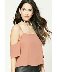 Forever 21 - Multicolor Open-shoulder Crop Top - Lyst