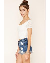 Forever 21 Black Floral Lace Top