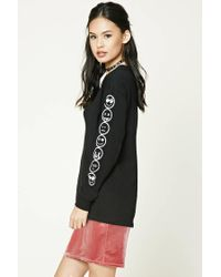 Forever 21 Multicolor Women's Happy Face Graphic Tee Shirt