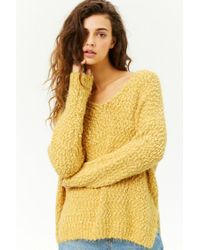 Forever 21 - Yellow Women's Fuzzy Knit Jumper Sweater - Lyst