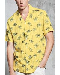 Forever 21 - Yellow 's Palm Tree Shirt for Men - Lyst