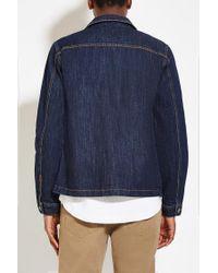 Forever 21 - Blue Four-pocket Denim Jacket for Men - Lyst