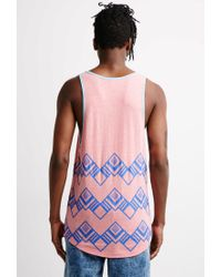 Forever 21 Pink Abstract Geo Print Tank for men