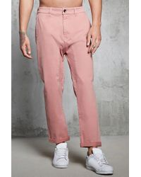 Forever 21 - Purple 's Twill Woven Jogger Pants for Men - Lyst