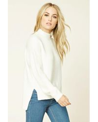 Forever 21 - White Contemporary High-neck Sweater - Lyst