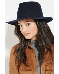 Forever 21 - Blue Wide-brim Wool Hat - Lyst