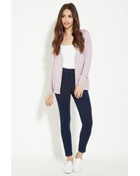 Forever 21 - Purple Classic Cardigan - Lyst