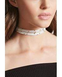 Forever 21 - Multicolor Beaded Faux Leather Choker - Lyst