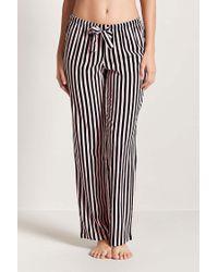 Forever 21 Black Stripe Pajama Pants