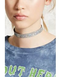 Forever 21 - Metallic Iridescent Scale Choker - Lyst