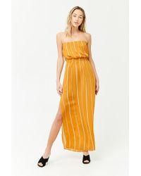 c7837d3989 Forever 21. Women s Striped Tube Maxi Dress
