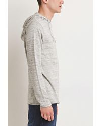 Forever 21 | Natural Marled Knit Hoodie for Men | Lyst