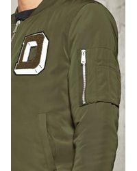 Forever 21 - Natural D Patch Bomber Jacket for Men - Lyst