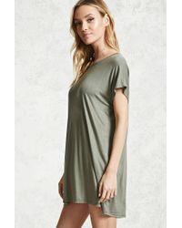 Forever 21 - Green Dolman T-shirt Dress - Lyst
