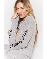 Forever 21 - Gray Spoiled Graphic Pyjama Top - Lyst