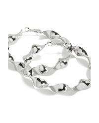 Forever 21 - Metallic Twisted Hoop Earrings - Lyst