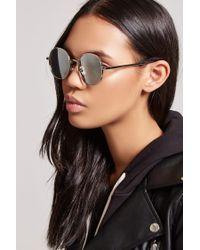 Forever 21 Metallic Classic Round Sunglasses