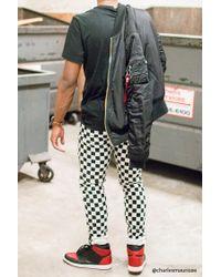 Forever 21 | Black Checker Print Skinny Jeans for Men | Lyst