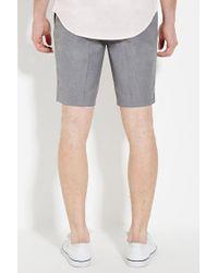 Forever 21 - Gray Textured Woven Shorts for Men - Lyst