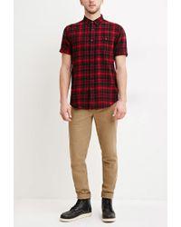 Forever 21 - Black Tartan Plaid Cotton Shirt for Men - Lyst
