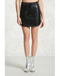 Forever 21 - Black Faux Leather Skirt - Lyst