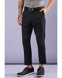 Forever 21 - Black Creased Trousers for Men - Lyst