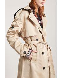 Forever 21 | Multicolor Hooded Trench Coat | Lyst