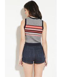 Forever 21 - Blue Stripe Sweater Vest - Lyst