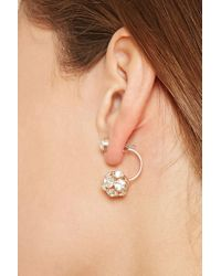 Forever 21 | Metallic Rhinestone Studded Ear Jackets | Lyst
