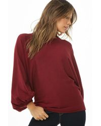 Forever 21 - Red Women's Balloon Sleeve Jumper Sweater - Lyst
