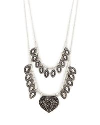 Forever 21 - Metallic Teardrop Pendant Necklace - Lyst