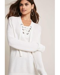 Forever 21 - Multicolor Purl-knit Lace-up Jumper - Lyst