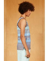 Forever 21 - Blue Ocean Current Abstract Tank Top for Men - Lyst