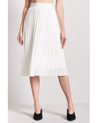 Forever 21 White Accordion Pleated Skirt