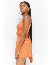 Forever 21 - Orange Women's Cutout Wraparound Playsuit - Lyst