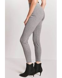 Forever 21 - Gray High-rise Houndstooth Trousers - Lyst